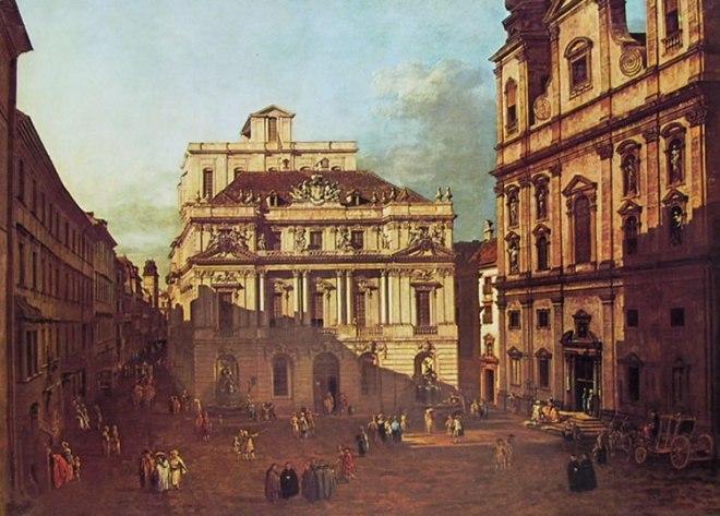Bellotto: Vienna - Piazza dell'Università da sud ovest verso l'aula Magna dell'Università