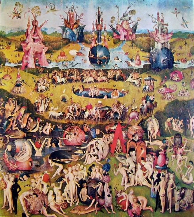 Hieronymus Bosch: Trittico delle delizie: parte centrale - Il giardino delle delizie