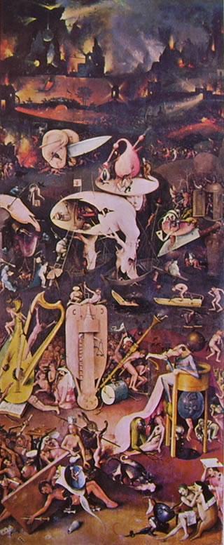 Hieronymus Bosch: Trittico delle delizie: parte destra - L'inferno musicale