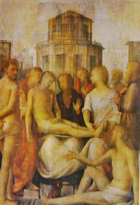 Bramantino: Pietà con i Santi Sebastiano e Rocco