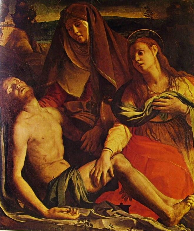 Il Bronzino: Cristo morto con la Madonna e Maddalena