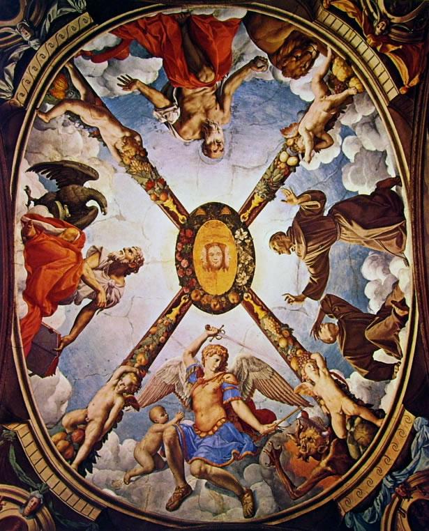 Il Bronzino: Decorazione della Cappella di Eleonora da Toledo - Decorazione del soffitto