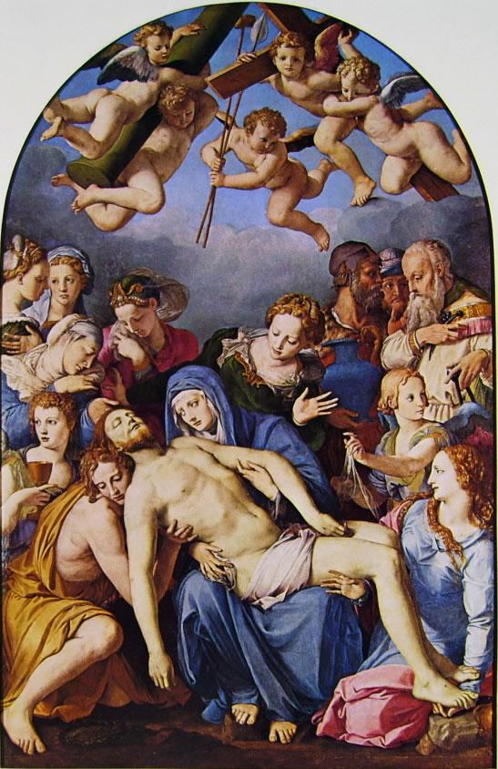 Il Bronzino: La deposizione di Cristo