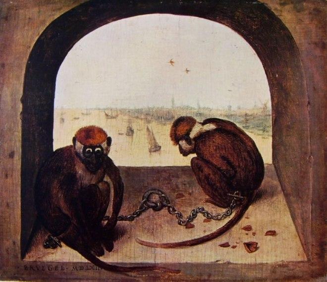 Pieter Bruegel: Due scimmie
