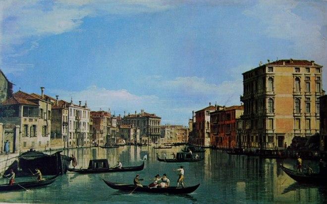 Il Canaletto: Il Canal Grande fra Palazzo Bembo e Vendramin Calergi