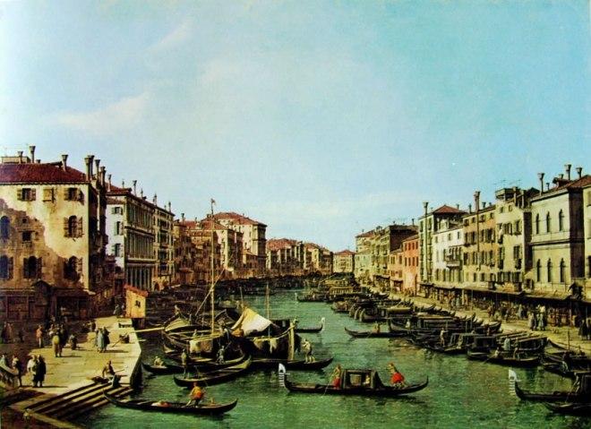 Il Canaletto: Il Canal Grande dal ponte di Rialto verso ca' Foscari