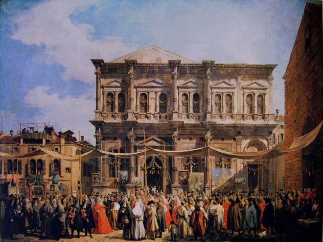 Il Canaletto: Visita del Doge alla chiesa di San Rocco