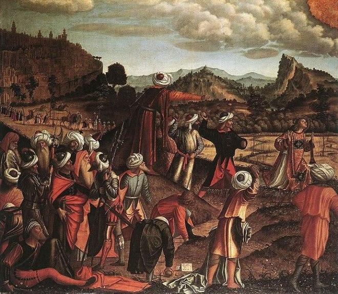 Carpaccio: La lapidazione di Santo Stefano