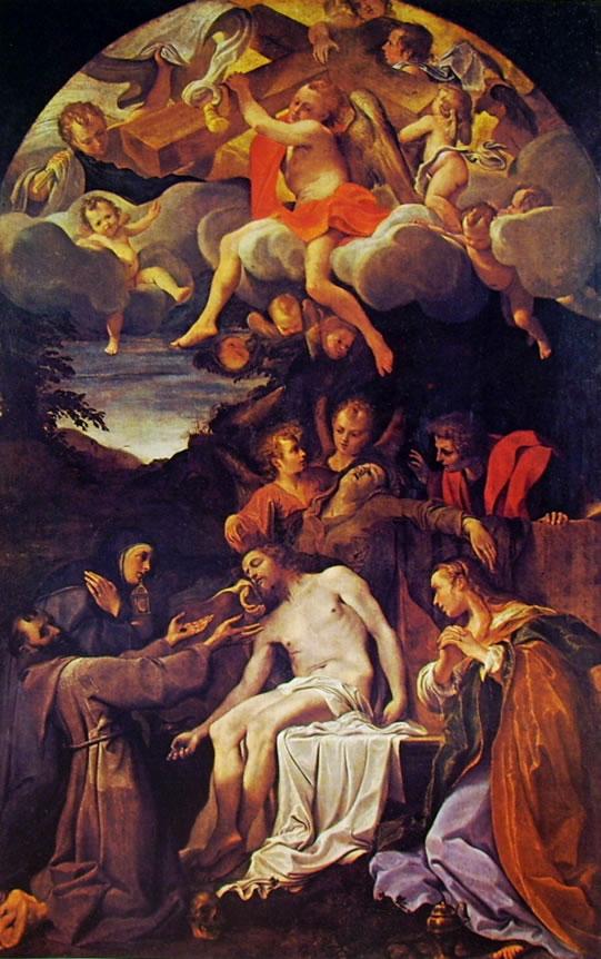 Annibale Carracci: Pietà e Santi