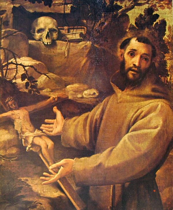 Annibale Carracci: San Francesco in meditazione