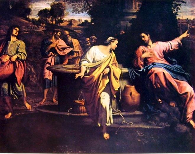 Annibale Carracci: Cristo e la samaritana