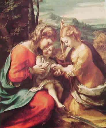 Correggio - Le nozze mistiche di Santa Caterina