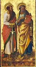 Carlo Crivelli: Polittico di Porto San Giorgio - I santi Pietro e Paolo