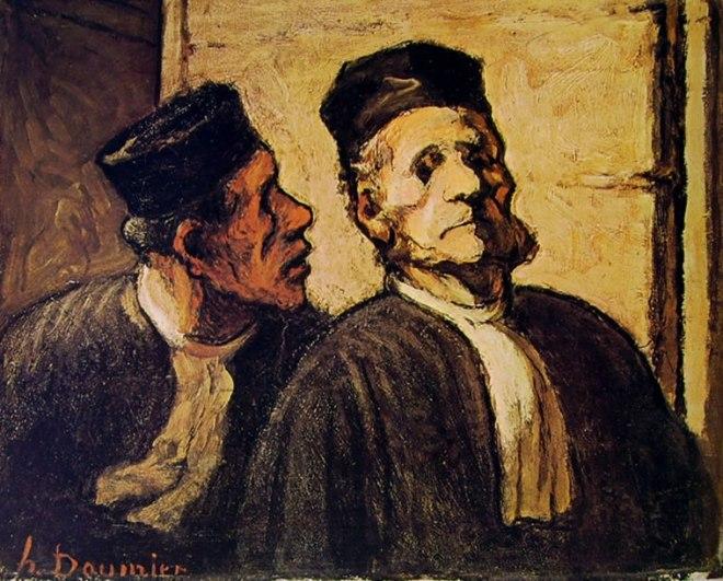 Honoré Daumier: Due avvocati in conversazione