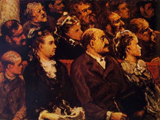 Honoré Daumier: Spettatori a teatro