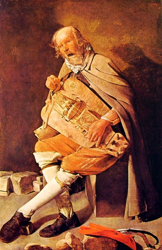 Suonatore di ghironda, cm. 162 x 105, Musée des Beaux-Arts, Nantes.