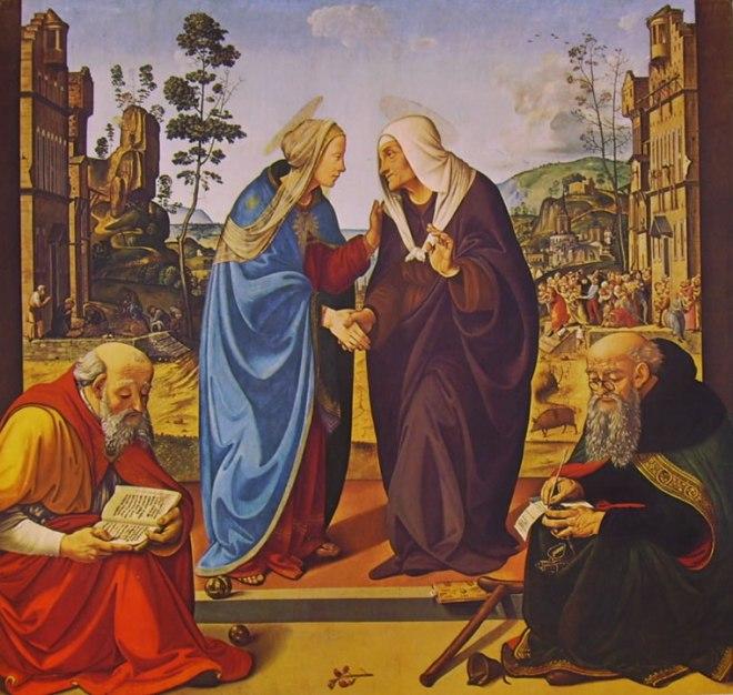 Piero di Cosimo: Visitazione con i santi Nicola e Antonio Abate