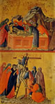 Duccio - Il Seppellimento di Cristo e La Deposizione della croce