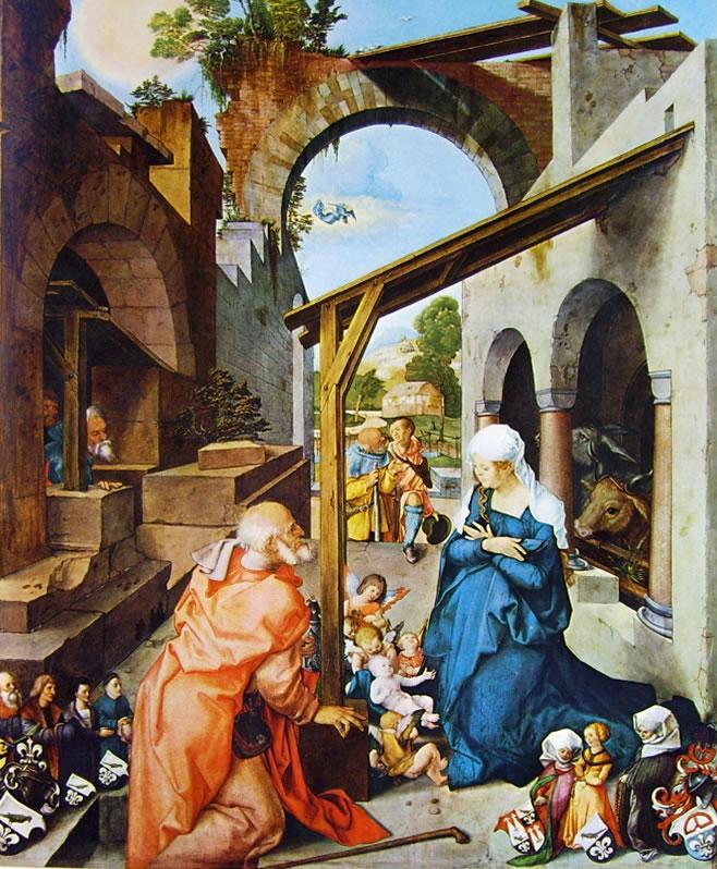 Albrecht Dürer: Altare di Paumgartner - Particolare della Natività