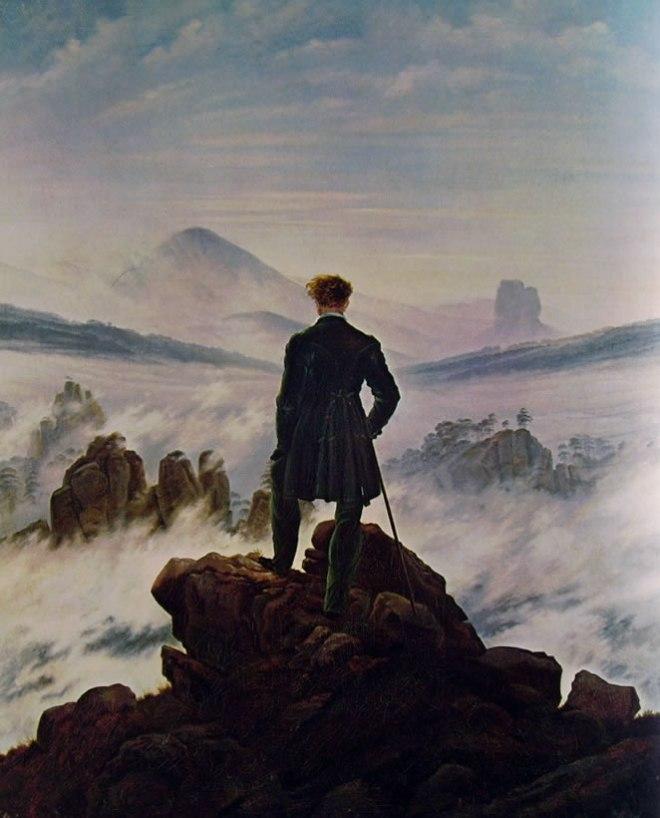 Caspar David Friedrich: Viandante sul mare di nebbia