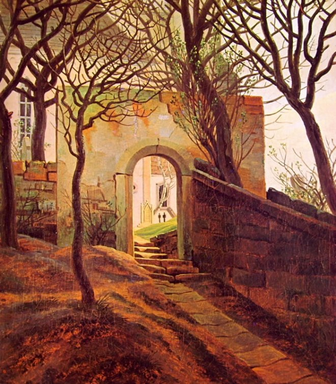 Caspar David Friedrich: Ingresso di cimitero