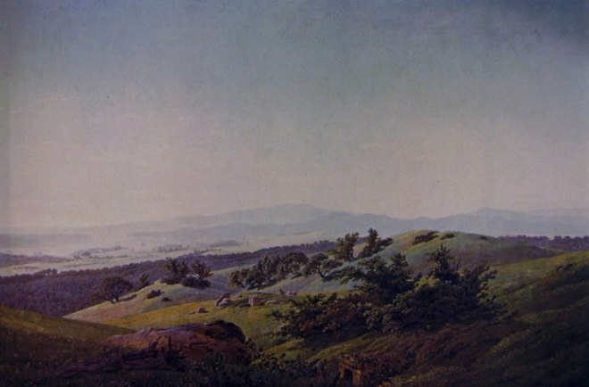 Caspar David Friedrich: Paesaggio lacustre