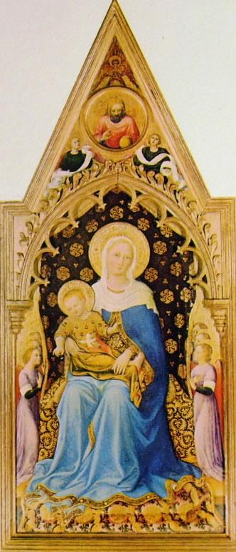 Gentile da Fabriano: Polittico Quaratesi - Madonna con il Bambino e angeli