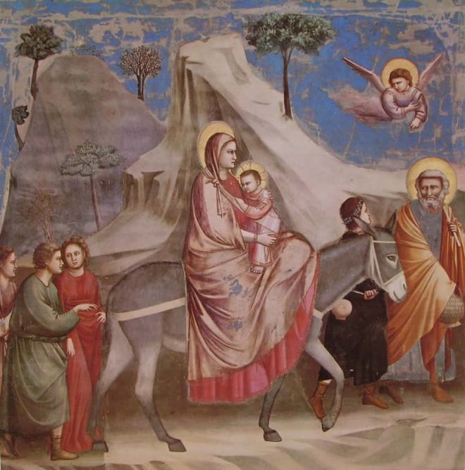 Giotto - Fuga in Egitto
