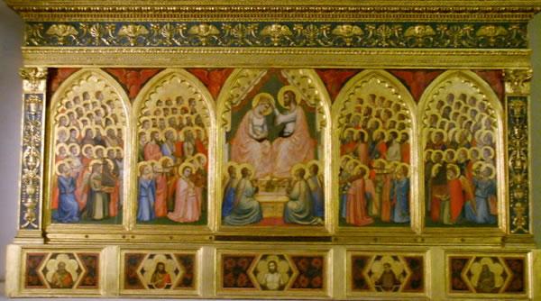 Giotto: L'Incoronazione della Vergine (Cappella Baroncelli, Santa Croce, Firenze)