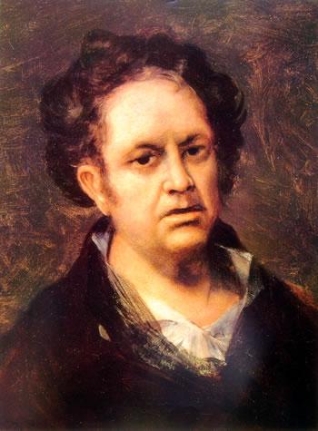 Goya - Autoritratto a sessantanove anni