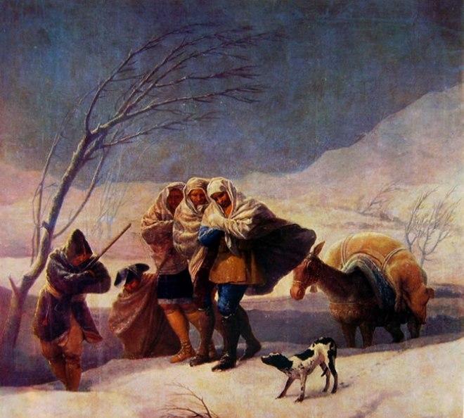 Goya - La nevicata