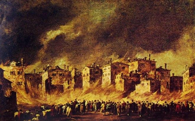 Incendio al deposito degli oli a San Marcuola, cm. 41 x 64, Galleria dell'Accademia, Venezia.