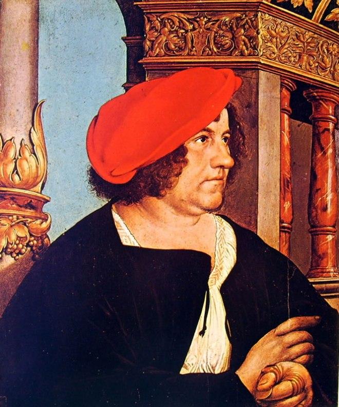 Hans Holbein il Giovane: Dittico dei coniugi Meyer Il borgomastro Jakob Meyer Hasen