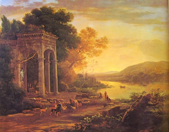 Lorrain (Claude Gellée): Paesaggio con pastori