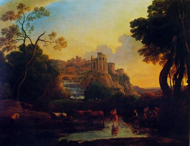 Lorrain (Claude Gellée): Veduta immaginaria di Tivoli