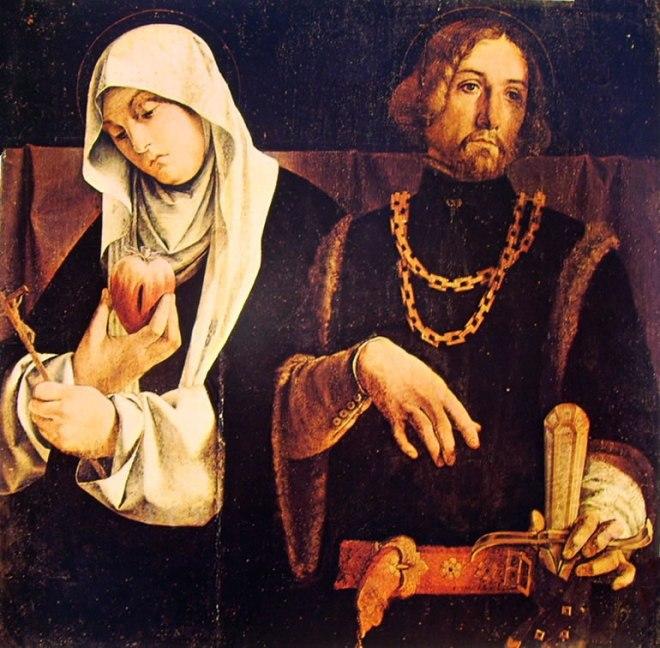 Lorenzo Lotto: I santi Caterina da Siena e Sigismondo