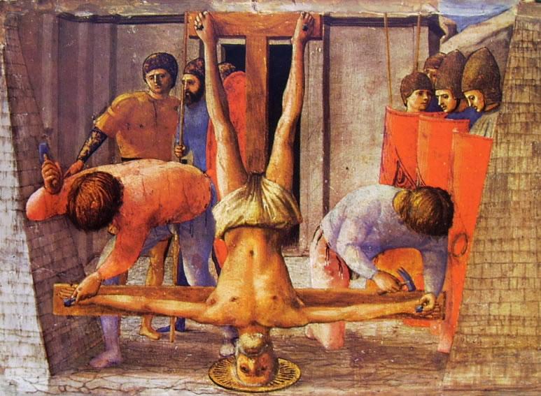 Crucificação de São Pedro durante o Império Romano