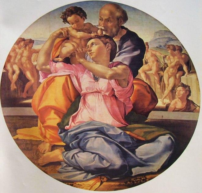 Tondo Doni (Sacra famiglia con San Giovannino),