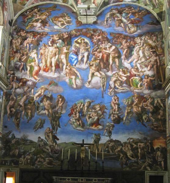 Michelangelo - Il Giudizio Universale, Cappella Sistina Vaticano, dopo il restauro