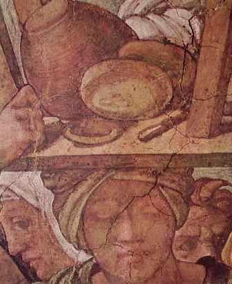 Michelangelo - Volta della Cappella Sistina, particolare del Diluvio Universale, Vaticano