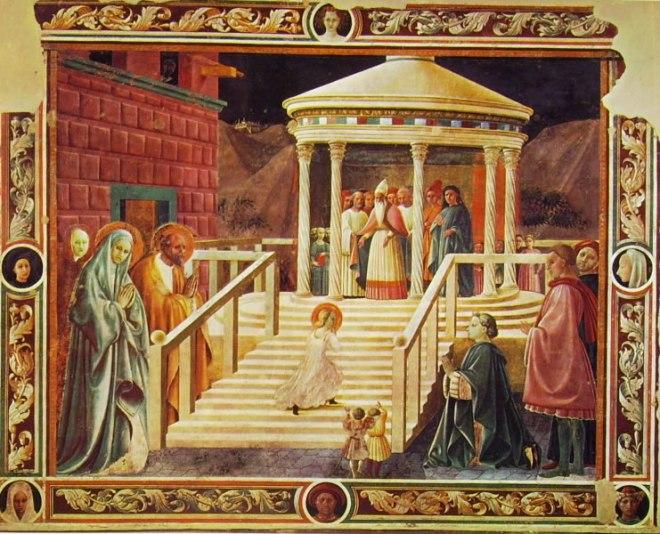 Paolo Uccello: Presentazione della Vergine al tempio