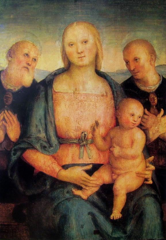Il Perugino: Madonna con bambino fra i santi Ercolano e Costanzo