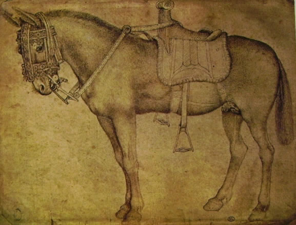 Pisanello: Mulo bardato