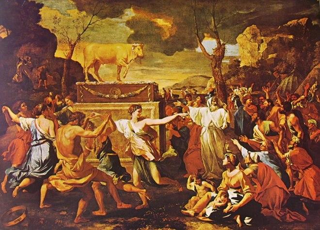Nicolas Poussin: L'Adorazione del Vitello d'oro