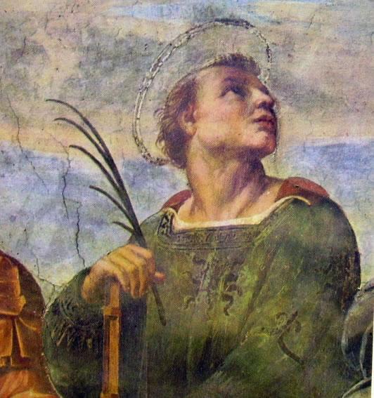 Raffaello Sanzio: Particolare (la disputa del Sacramento)