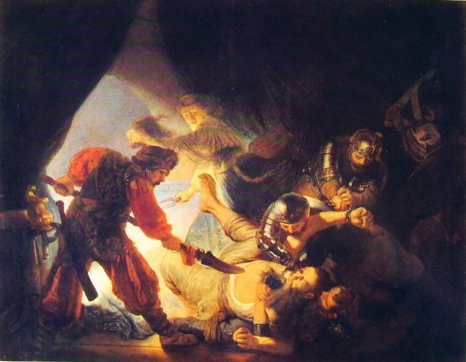 Rembrandt Harmenszoon Van Rijn: Sansone accecato dai filistei