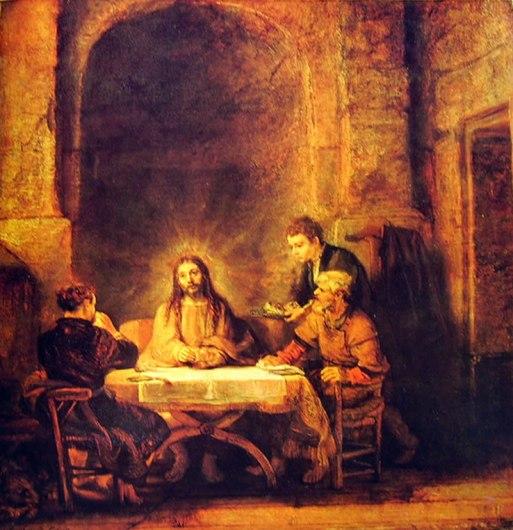 Rembrandt Harmenszoon Van Rijn: La cena in Emmaus