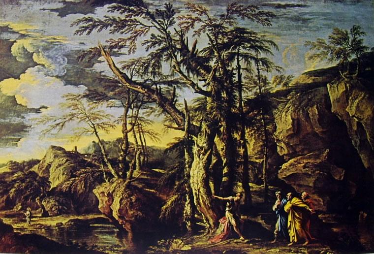 Paesaggio con San Giovanni Battista di Salvator Rosa