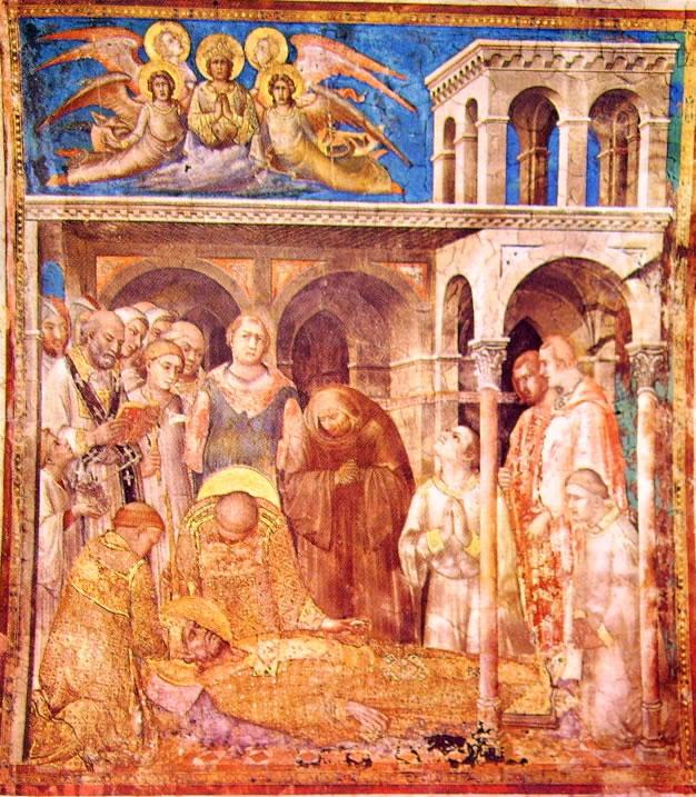 Simone Martini: Storie di San Martino - La morte
