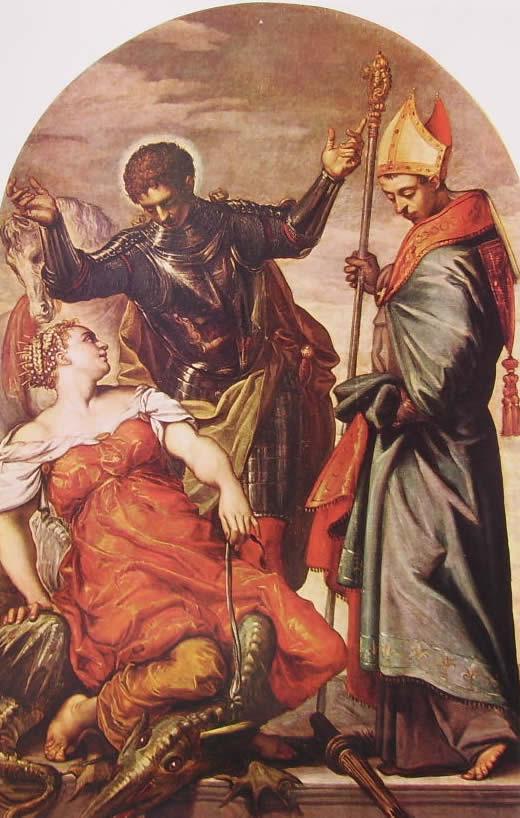 Il Tintoretto: La principessa, San Giorgio e San Luigi